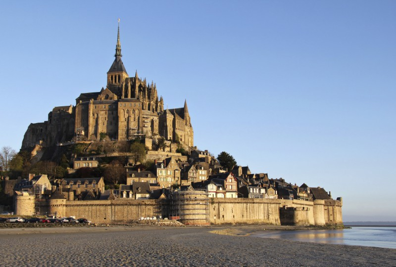 Morning light over Mont Saint Michel